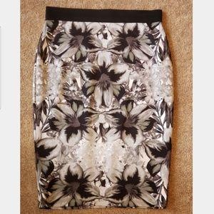 Women's Apt. 9 Floral Pencil Skirt Large